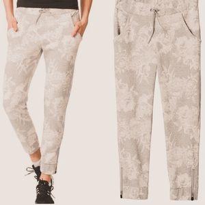 Adidas postgame printed floral fleece zipper pants